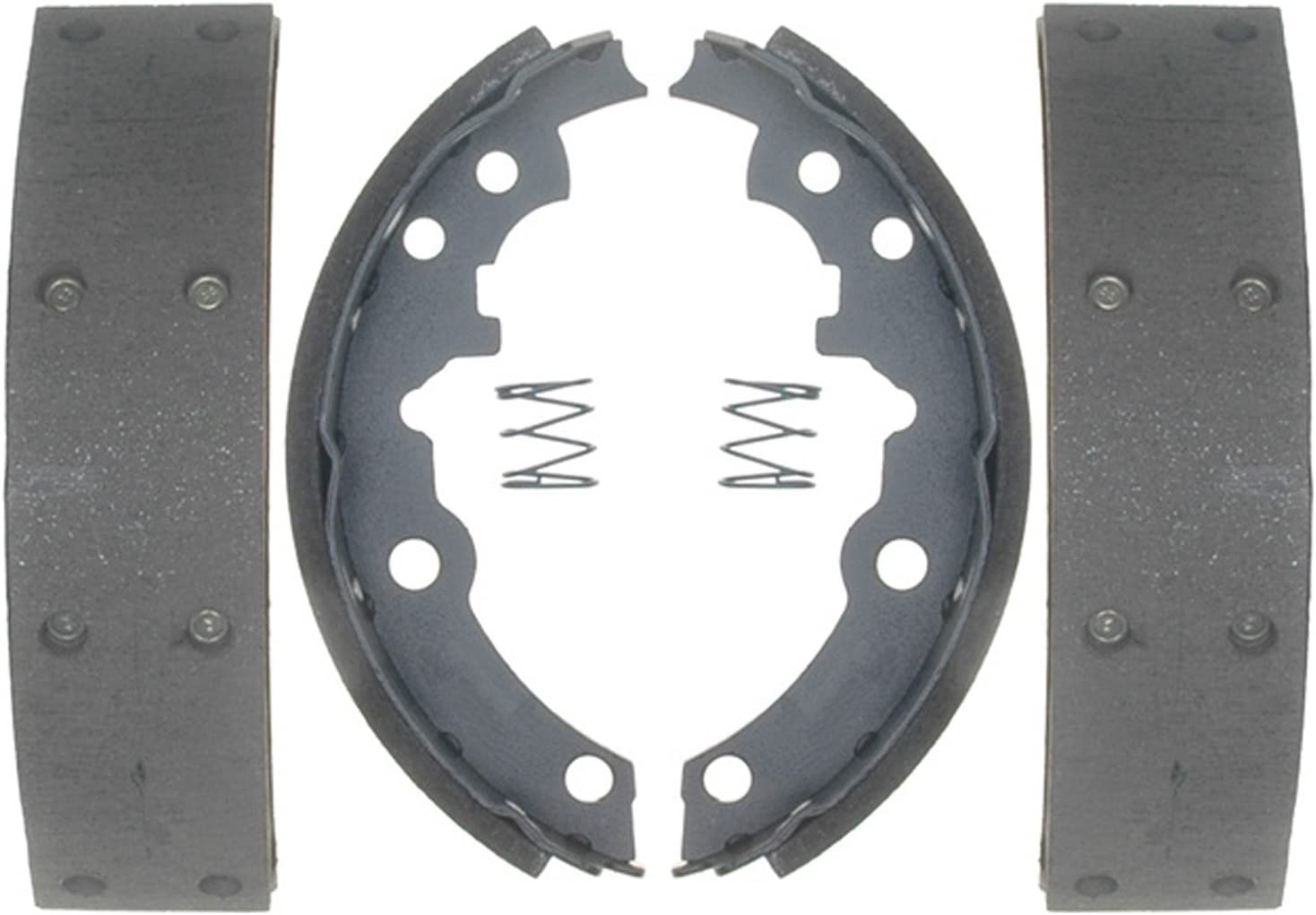 ACDelco 17553R Professional Riveted Rear Drum Brake Shoe Set