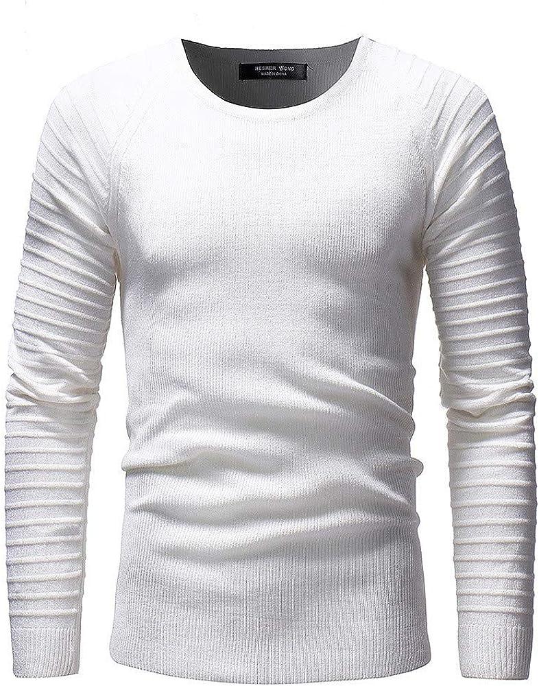 qulvyushangmaobu Sudadera para Hombre Camisa de Trabajo Camisa de Trabajo Casual suéter para Hombre suéter de Manga Larga Cuello Redondo básico Casual Suave Ligero clásico Tejido: Amazon.es: Ropa y accesorios