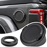 Savadicar Gas Cap Cover No Locking Fuel Tank Door for 2018-2021 Jeep Wrangler JL JLU 2/4 Door, ABS + Aluminum Alloy…