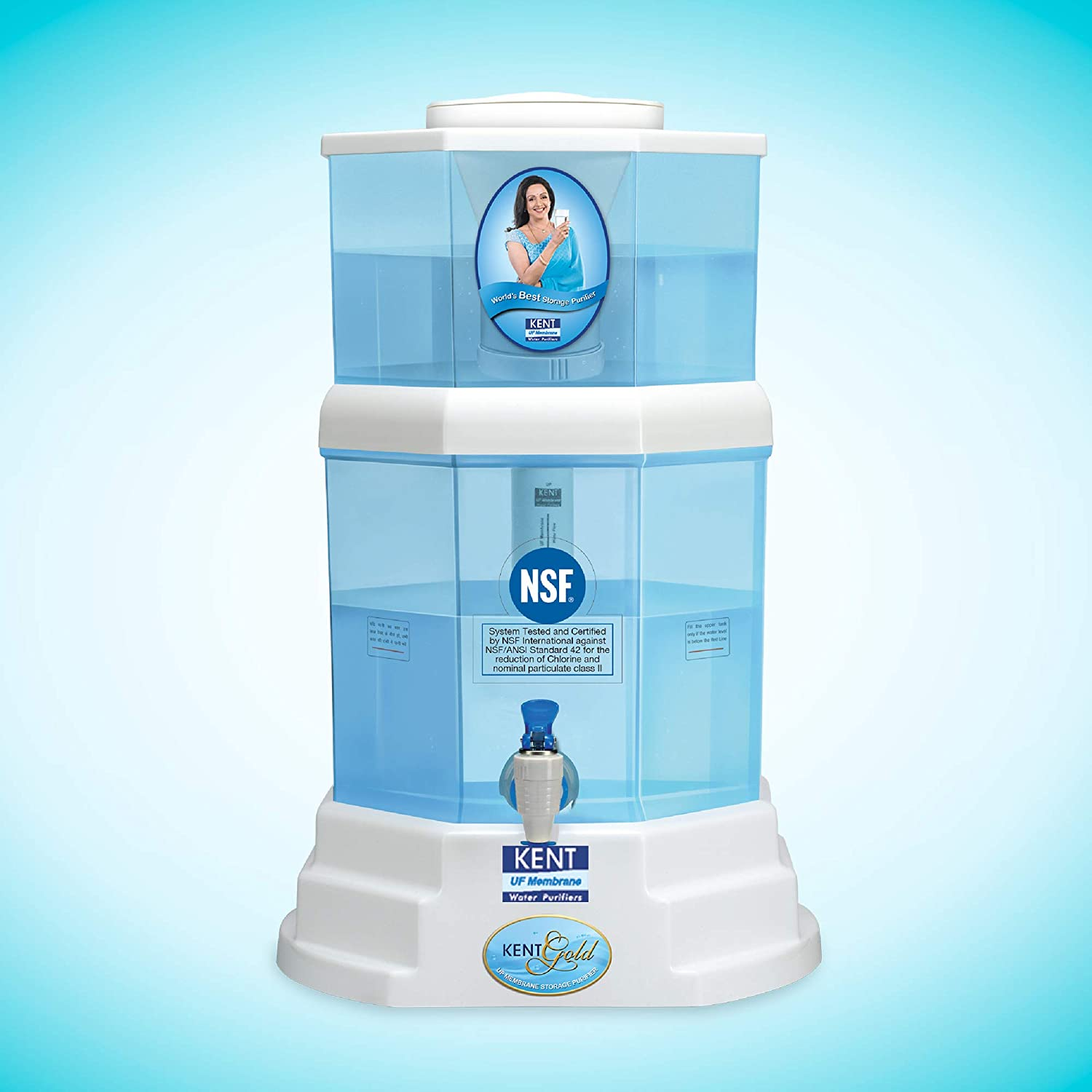 Open-Box & Refurbished (Unused) KENT Gold 20-Litres UF technology based Gravity Water Purifier, White kida.in