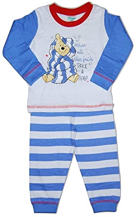 6-9 Months, Mickey Mouse Baby Boys Pyjamas Two Piece Tigger Winnie The Pooh and Mickey Mouse
