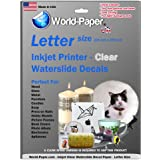 5 Pack A4 Waterslide INKJET Water Slide Decal Paper Transfer Craft Paper Sheets - CLEAR