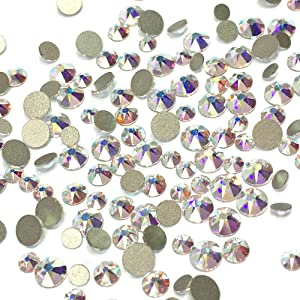 Crystal AB (001 AB) 2088 Xirius Swarovski Mixed Sizes ss12 ss16 ss20 Flatbacks No Hotfix Round Rhinestones