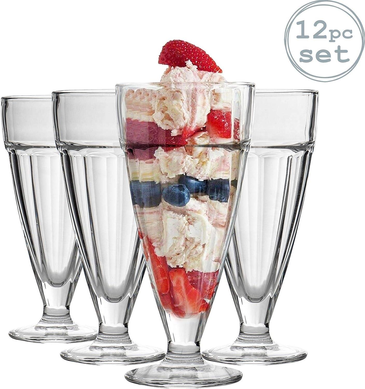 6x Anchor Hocking Tall Sundae Dish Soda Glass Dessert Sorbet Ice Cream 12.5 oz