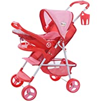 Little Mommy Doll Ultimate Travel System Stroller (D83589) with Retractable Canopy & Shopping Basket Below - Feeding…