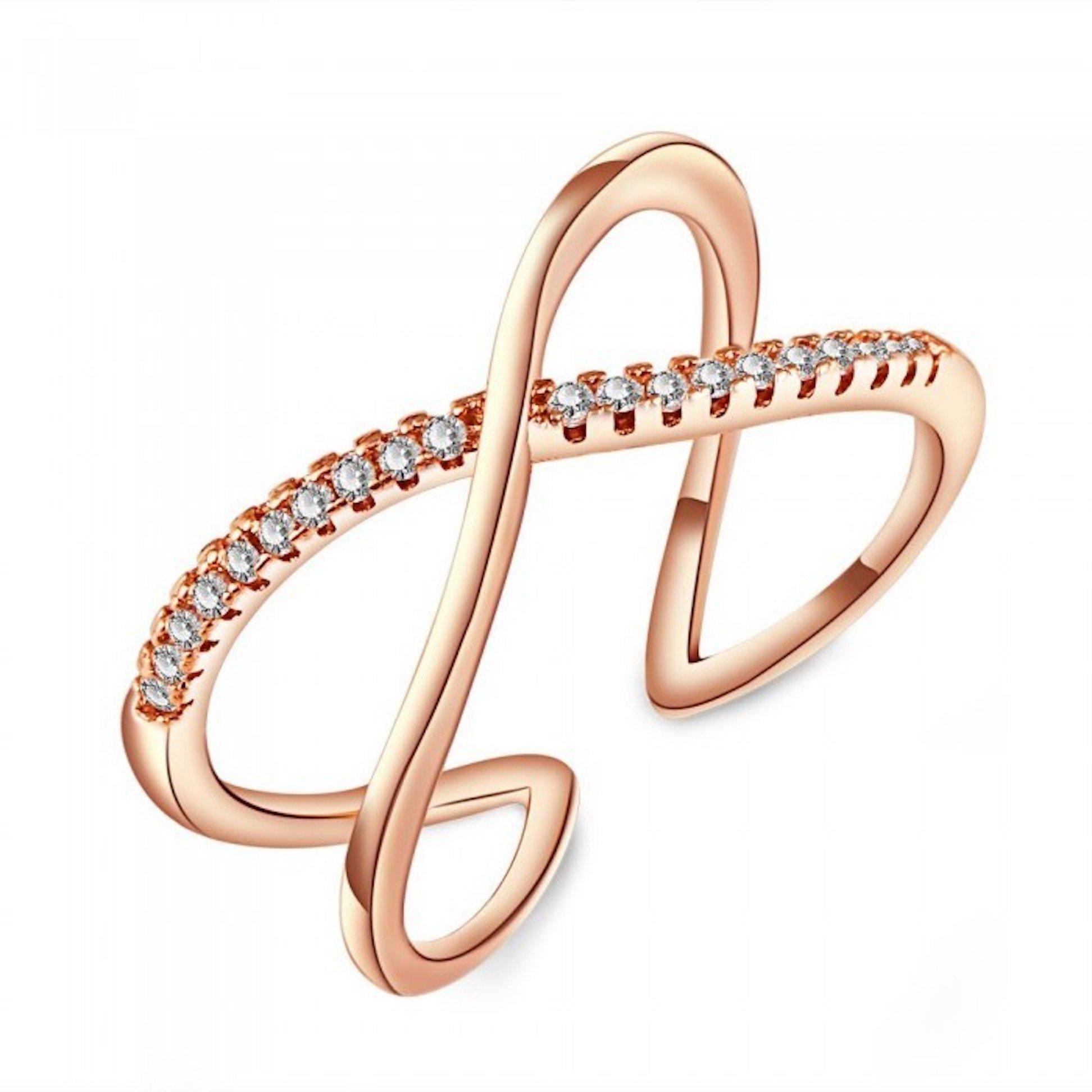 Blush and Bar Nadia X Infinity Ring (Rose)