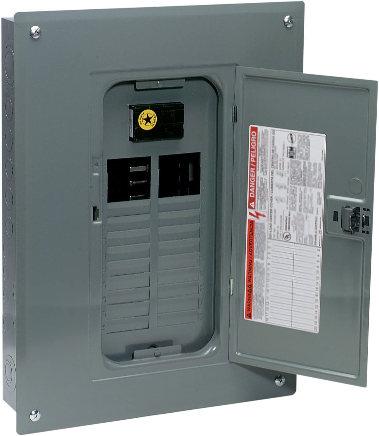 circuit breaker panels amazon com electrical breakers, loadsquare d by schneider electric qo plug on neutral 100 amp main breaker 24