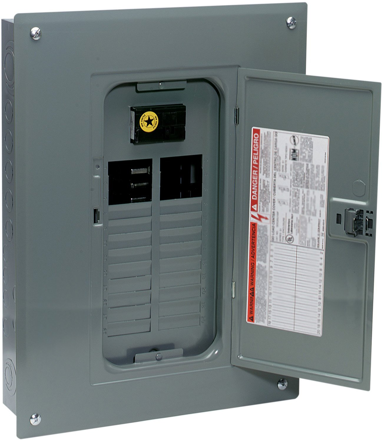 Square D By Schneider Electric Qo Plug On Neutral 100 Amp Main Breaker Box Wiring Diagram 24 Space Circuit Indoor Load Center With Cover