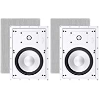Deals on Sycamore by Monoprice Architectural In-Wall Speakers Pair 8-inch