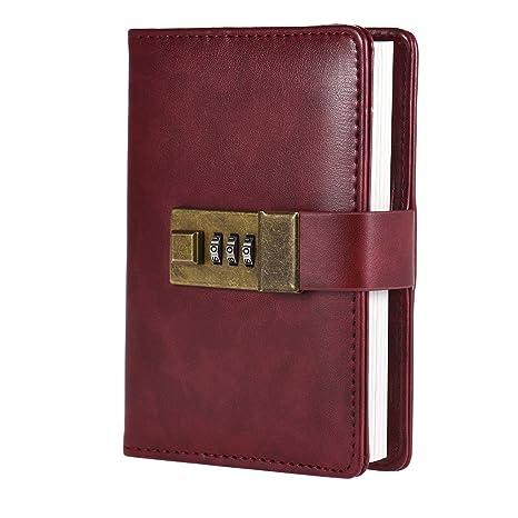 Walmeck Cuaderno de bolsillo vintage con agenda de diario ...