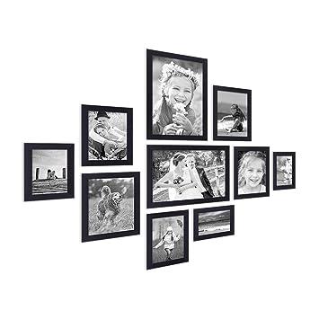 Bilderrahmen Modern amazon de 10er bilderrahmen collage photolini basic collection