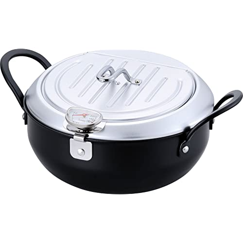 オイルポットと天ぷら鍋が合体した便利な天ぷら鍋。片方の鍋に網をセットし揚げ物の油を切り、使用後はそのまま油をこして収納することができます。収納時も鍋をフタ代わりにすることでコンパクトに。油飛びガードが付き、調理中の油の飛び散りが少なく安心です。20cmと使いやすいサイズで、IH(100V)に対応しています。