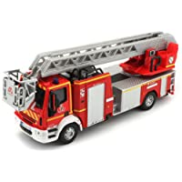 Bburago Maisto France - 32001 - Camion de Pompiers Iveco Magirus 150E 28 - Véhicule Miniature - Échelle 1/55