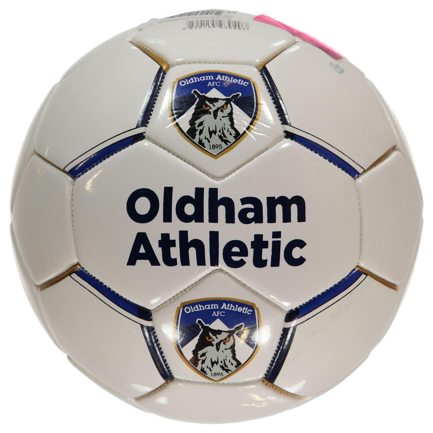 Oldham Athletic FC - Balón de fútbol, color blanco/azul de balón ...