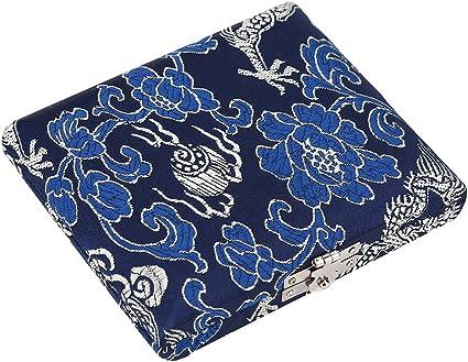 Drfeify Caja de Láminas de Oboe, Caja de Almacenamiento de Titular de Caja de Lámina de Madera y Tela de Seda para Cañas de Oboe de 6 Piezas(Azul): Amazon.es: Deportes y aire