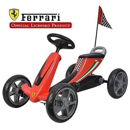 amazon com galoper scuderia ferrari kids pedal go kart pedal