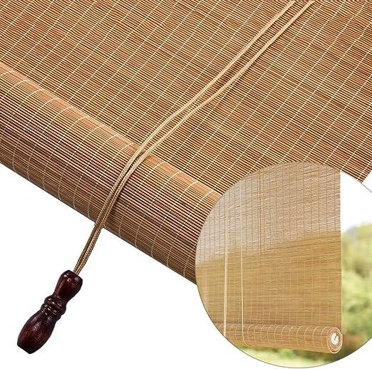 Estores Enrollables Persianas enrollables de bambú para exteriores, color carbonizado Persianas enrollables para exteriores Invernadero exterior Jardín Patio Pérgola Porche Balcón, 100/120/140/150 / 1: Amazon.es: Hogar