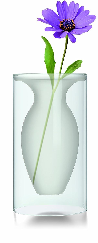 Philippi 149003 Esmeralda Vase M Vase, Glas, Transparent, 13 x 13 x 24 cm