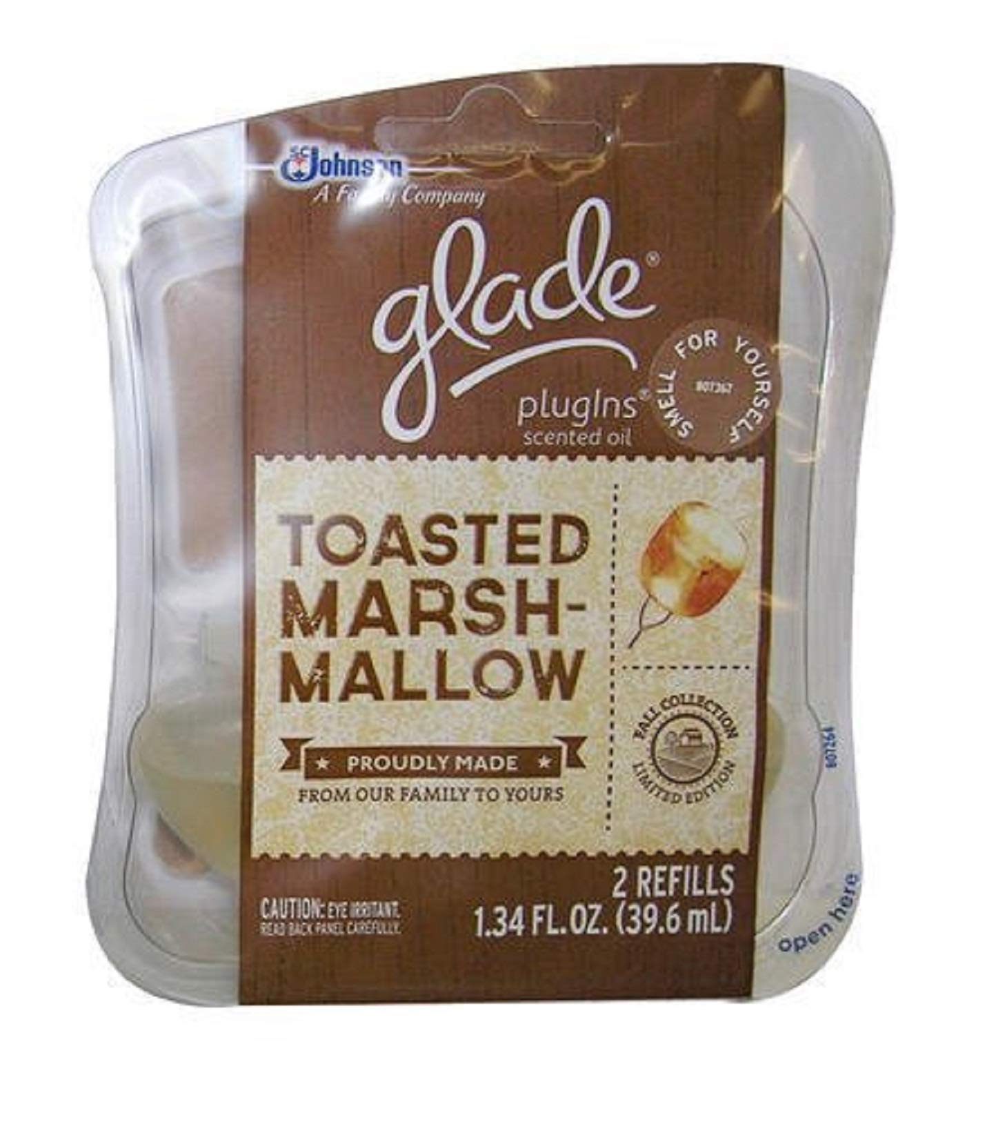 Glade Plug-in Scented Oil Refill 2 Ct Each - Toasted Marshmallow Holiday Edition (Pack of 10)