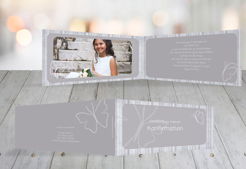 Kartenparadies Einladungskarte Konfirmation Butterfly 2, hochwertige Einladung zur Konfirmationsfeier inklusive Umschläge   10 Karten - (Format  215x105 mm) Farbe  MattGelb B01MRBZ50X | Sehen Sie die Welt aus der Perspektive des Kindes  | Lebendige