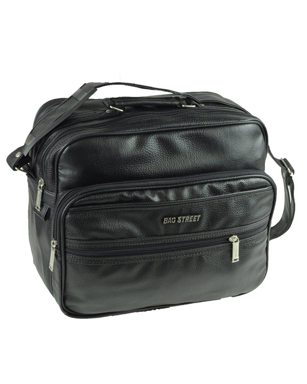 Robusta borsa da lavoro con tracolla ideale per assistenti di volo Formato rettangolare colore Nero