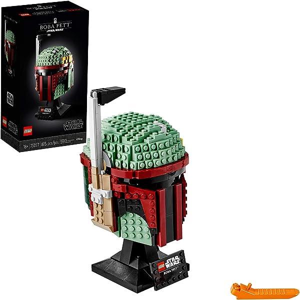LEGO Star Wars Boba Fett Helmet 75277 Building Kit; Cool Collectible Star Wars Set 625pc