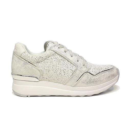 save off 43558 0dc3b Braccialini Sneaker Donna Colore Grigio con Zeppa Media e ...
