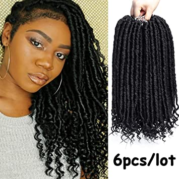 Amazon Com Goddess Locs Crochet Braids Natural Black Straight Hair