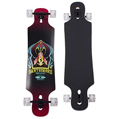 "YD-0014 42"" Inches Skateboard Drop Through Freestyle Longboard, 7 Layer Canadian Maple Wood Deck : Sports & Outdoors"