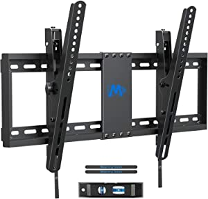 "Mounting Dream TV Wall Mount with Post Installation Leveling for Most 37-70"" Flat-Panel TVs, Tilting TV Mount up to 132lbs, VESA 600x400mm, Low Profile TV Wall Mount Bracket Fits 16""- 24"" Wood Studs"