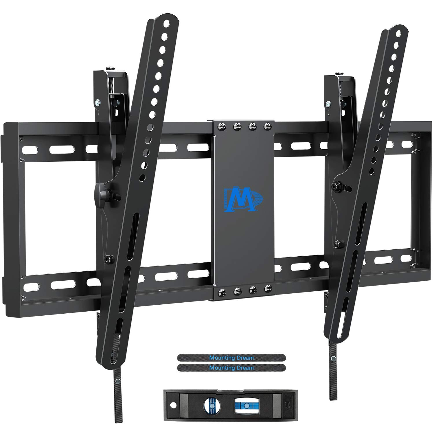 Mounting Dream TV Wall Mount with Post Installation Leveling for Most 37-70'' Flat-Panel TVs, Tilting TV Mount up to 132lbs, VESA 600x400mm, Low Profile TV Wall Mount Bracket Fits 16''- 24'' Wood Studs by Mounting Dream