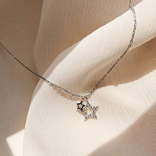 Layered Necklace Crystal Moon Star Turquoise Feather Diamond Olive Leaf Heartbeat Coin Ms Mother Jewelry Heart Necklace Gold Plated Stainless Steel Girl Lady Gift Female Fashion Exquisite Necklace