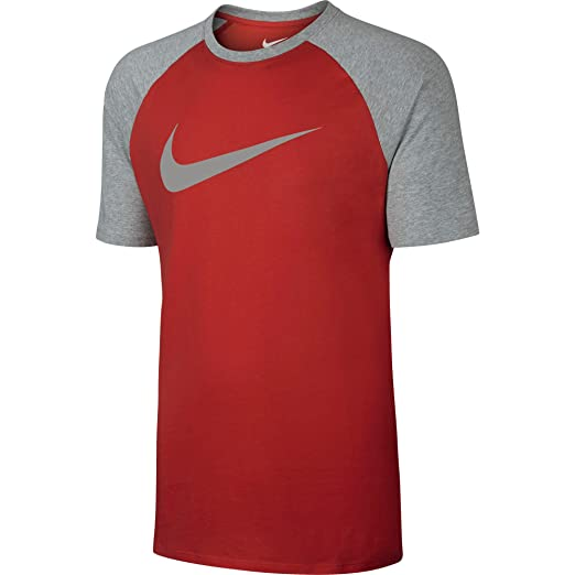 9cd2c050 Amazon.com: Nike Men's Sportswear Raglan Lt Crimson/Dk Grey Heather ...