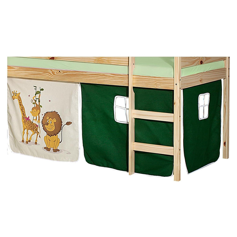 Vorhang Bettvorhang Stoff Pirat Hochbett Spielbett Kinderzimmer Hellblau B-WARE