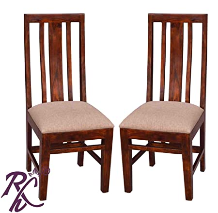 RAJ HANDICRAFT (2 PIC. Set) Solid Wooden Dining Chair