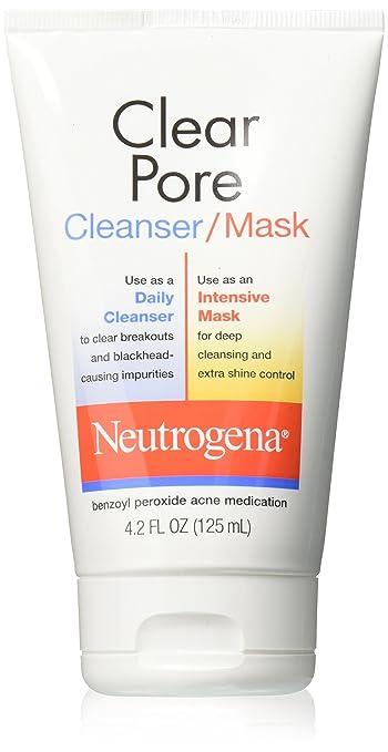 5 Pack - Neutrogena Clear Pore Cleanser/Mask 4.20 oz Each Secret Key Aloe Soothing Moist Toner 8.38 oz