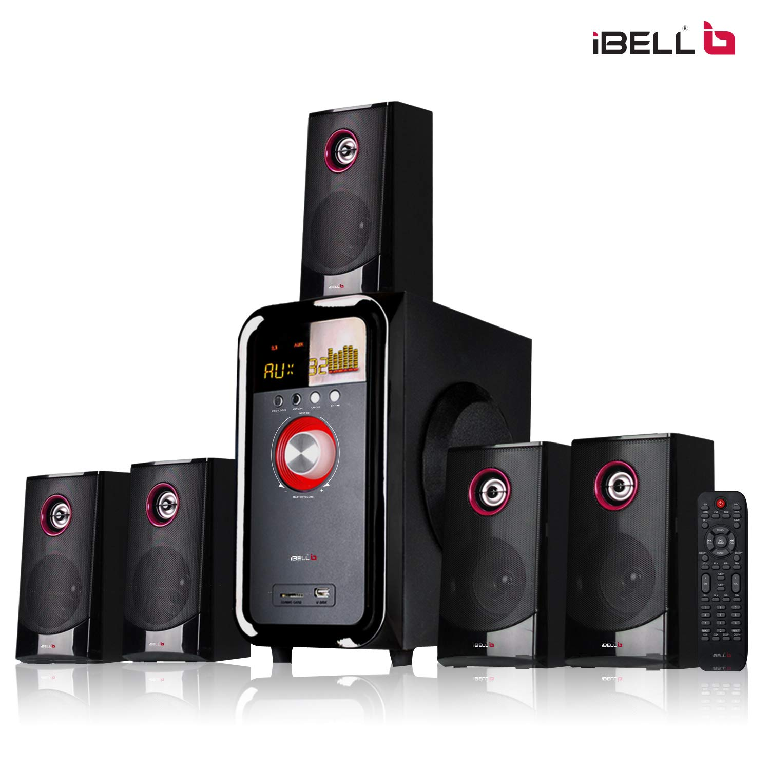 a5bf89acd89 iBELL IBL2079DLX 5.1 Home Theater Speaker Multimedia with FM Stereo ...