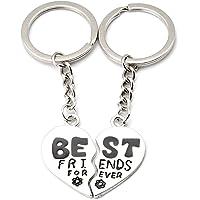 Best Friends Forever Heart Keyring - 2 Halves by TRIXES