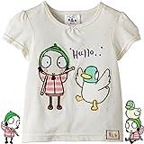 100/% Cotton BBC Official Merchandise Sarah /& Duck® S/&D Noisy Duck Grey T-Shirt