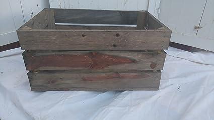 Caja de fruta madera 54 x 35 x 30 cm color marrn Amazones Hogar