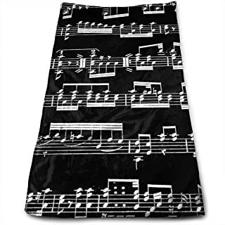 hgfdhfgjrfj Dark Musical Notes 100% Cotton Towels Ultra Soft & Absorbent Bathroom Towels Great Shower Towels, Hotel Towels & Gym Towels 9J0S4YMXAEBG4TYV3VHC