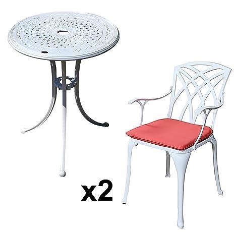 Amazon Sedie Da Giardino In Alluminio.Lazy Susan Tavolo Bistro 60 Cm Ella E 2 Sedie Da Giardino