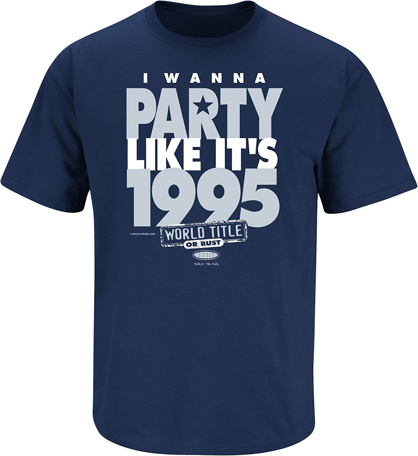 Smack Apparel Dallas Football Fans Sm-5X Silver and Blue Til The Day Im Through Navy T-Shirt