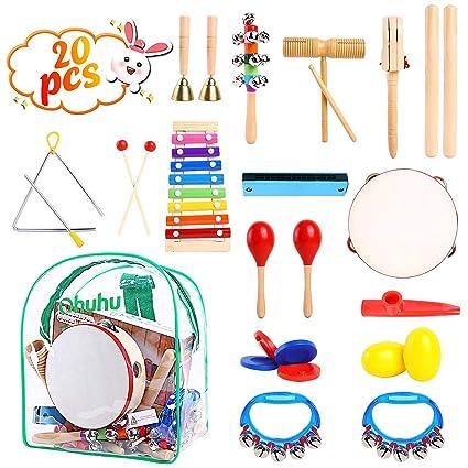 Instrument De Musique Enfant Ohuhu 20 Pcs De Musique Instructives Pour Enfants Jouets Musicaux Pour Tout Petits Batterie De Percussion Rythmique