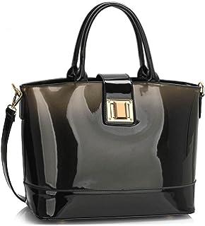 2276086c256b LeahWard Patent Two Tone Bags For Women Nice Ladies Tote Shoulder Bag  Handbag 329