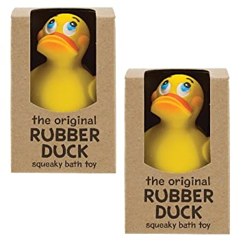Amazon.com : Quack Up with a Set/2 Original Sitting Rubber Ducks ...