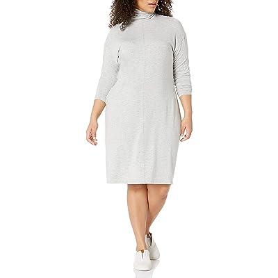 Brand - Daily Ritual Women's Plus Size Long-Sleeve Turtleneck Dress: Clothing
