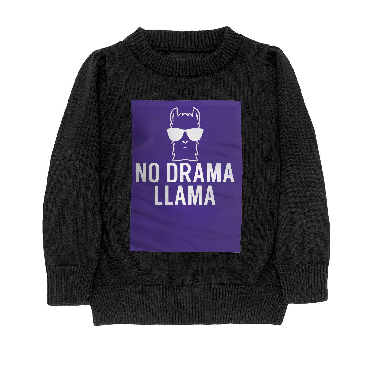 No Drama Llama Style Teenager Boys /& Girls Unisex Sweater Keep Warm
