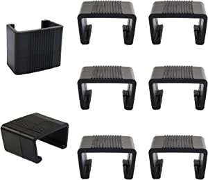 Freehawk Patio Wicker Furniture Clips Sofa Rattan Furniture Clips Chair Fasteners Sectional Sofa Alignment Connector Furniture Fasteners Chair Couch Clamps (8)