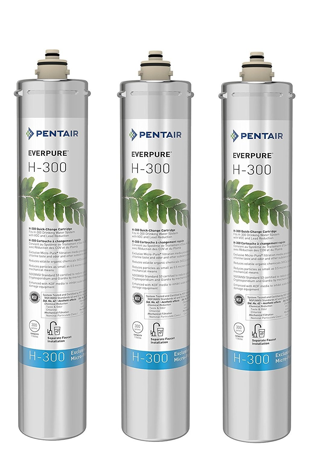 Everpure H-300 Water Filter Replacement Cartridge (EV9270-72 or EV9270-71) (Pack of 3)